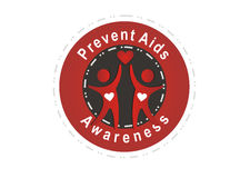 Prevent aids. Badge isolated on white background Stock Photo