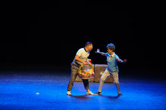 Prevent-Sketch jump square dance aunt-The common people the big stage. In November 10, 2014, the people of the big stage public performances in Nanchang Royalty Free Stock Photography