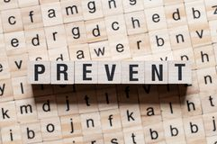 Prevent word concept royalty free stock photography