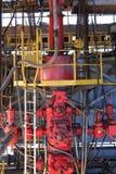 Preventer χτυπήματος έξω (ΙΠ) για τη διάτρυση της πλατφόρμας άντλησης πετρελαίου Στοκ φωτογραφίες με δικαίωμα ελεύθερης χρήσης
