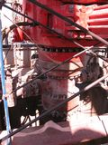 Preventer de ruptura no equipamento de perfuração para a exploração do petróleo imagem de stock