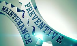 Preventief Onderhoud - Mechanisme van Metaaltandraderen 3d stock illustratie