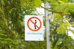 Preventieteken in de stad stock foto's