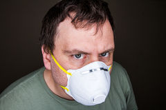 Preventin infection or just being creepy? Stock Photo