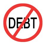 Preventing debt. Sign for Preventing of debt Royalty Free Stock Photography