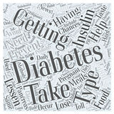 Preventing Diabetes after having Gestational Diabetes word cloud concept background Stock Photography
