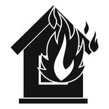 Preventing fire icon, simple style. Preventing fire icon. Simple illustration of preventing fire vector icon for web Royalty Free Stock Photos