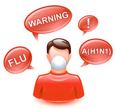 Prevention. Vector illustration of prevention of spread of the infection stock illustration