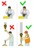 Prevention of accidents Royalty Free Stock Photos