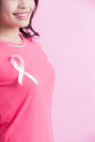 Prevention breast cancer concept Stock Image