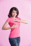 Prevention breast cancer concept Stock Images
