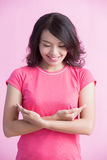 Prevention breast cancer concept stock photography