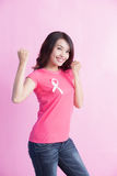 Prevention breast cancer concept Stock Photos