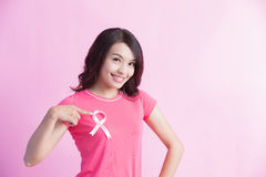 Prevention breast cancer concept Royalty Free Stock Photos