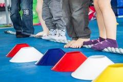Prevention flatfoot. Exercises for prevention of flatfoot in children stock photography