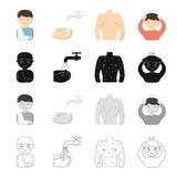 Prevention, medicine, polyclinic and other web icon in cartoon style. Diseases, treatment, hygiene icons in set Royalty Free Stock Photography
