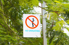 Prevention sign in the city Stock Photos