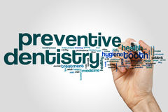 Preventive dentistry word cloud Royalty Free Stock Image