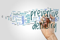 Preventive dentistry word cloud Royalty Free Stock Photos