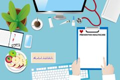 Preventive healthcare concept vector Royalty Free Stock Photography