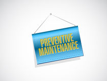 Preventive maintenance banner sign concept Royalty Free Stock Images