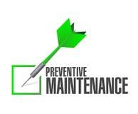 Preventive maintenance check dart sign concept Royalty Free Stock Photos