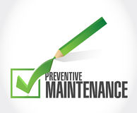 preventive maintenance check mark sign Royalty Free Stock Photo
