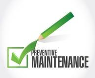 Preventive maintenance check mark sign Royalty Free Stock Photo