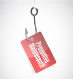 Preventive maintenance hook tag sign concept Stock Photo