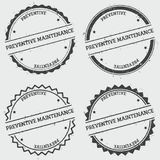 Preventive maintenance insignia stamp  on. Preventive maintenance insignia stamp  on white background. Grunge round hipster seal with text, ink texture and Royalty Free Stock Photo