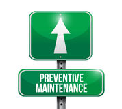 Preventive maintenance road sign concept Stock Images