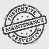 Preventive maintenance rubber stamp isolated on. Stock Image