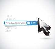 Preventive maintenance search bar sign concept Stock Photos
