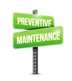 Preventive maintenance street sign. Concept illustration design over white Stock Photography