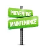 Preventive maintenance street sign Stock Photography