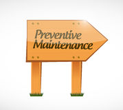 Preventive maintenance wood sign concept Stock Photo