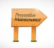 Preventive maintenance wood sign concept Stock Photo