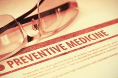 Preventive Medicine. Medicine. 3D Illustration. Royalty Free Stock Image