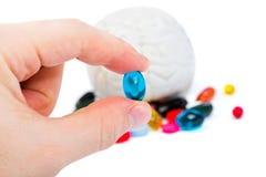 Preventivpiller i hand Arkivfoton