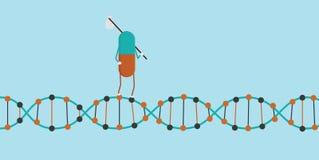 Preventivpiller som går på DNA Arkivfoton