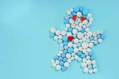 Preventivpillerar är i mänsklig form background card congratulation invitation Kopiera utrymme för text royaltyfria foton