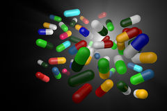 Preventivpillerar Royaltyfri Foto