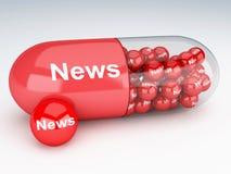 preventivpillerar 3d med nyheterna Arkivfoton
