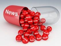 preventivpillerar 3d med nyheterna Royaltyfri Fotografi