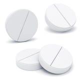 preventivpillerar för medicin 3d vektor illustrationer