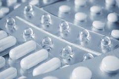 Preventivpillerar i closeup för blåsapacke Arkivfoton