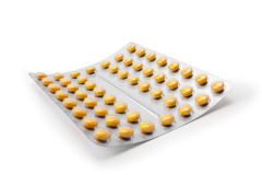 Preventivpillerar i ett emballage Arkivfoto
