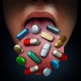 Preventivpillerar och medicin royaltyfri illustrationer