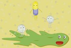 Preventivpillerar som landsförvisar en sjukdom. Fotografering för Bildbyråer