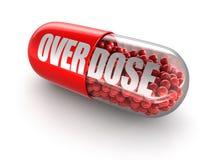 Preventivpilleröverdos Arkivfoto